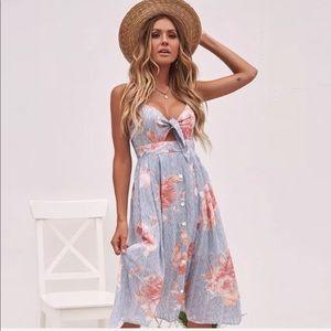 Dresses & Skirts - Tie knot summer tank mini women's cocktail dress